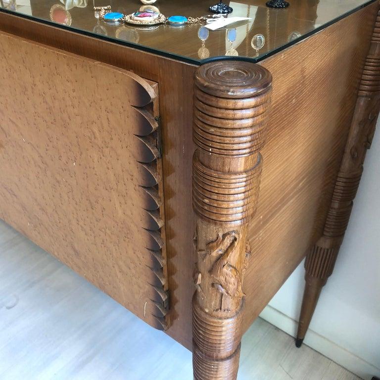 Pier Luigi Colli Mid-Century Modern Maple Wood Italian Sideboard, circa 1950 3