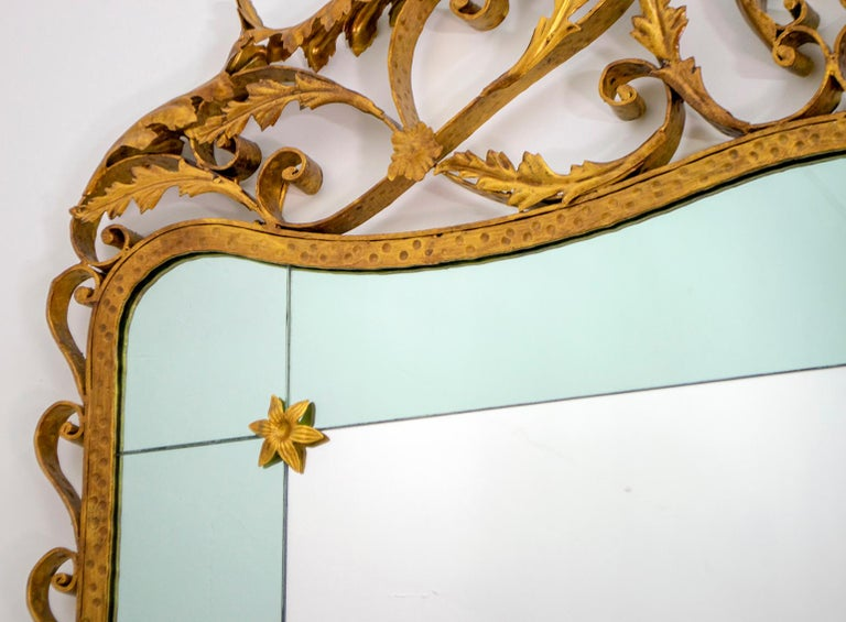 Pier Luigi Colli Mid-Century Modern Italian Wrought Iron Hallway Mirror, 1950s For Sale 6