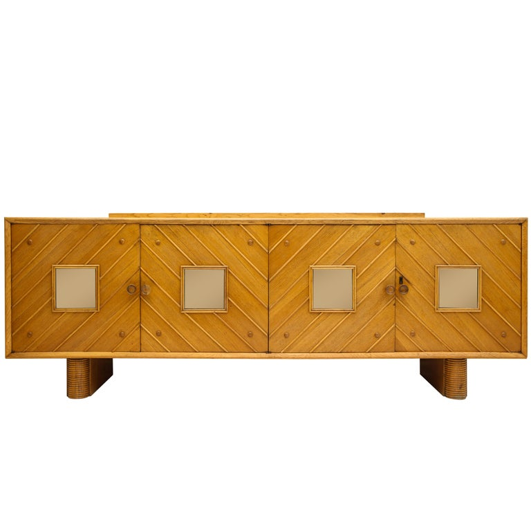 Pier Luigi Colli oak buffet sideboard, 1940s. Offered by This Place