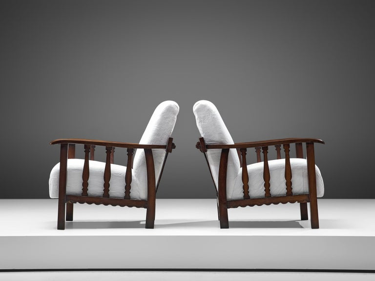 Mid-20th Century Pier Luigi Colli Pair of Lounge Chairs in Oak For Sale