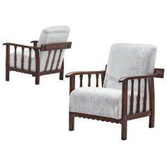 Pier Luigi Colli Pair of Lounge Chairs in Oak