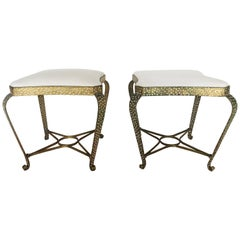 Pier Luigi Colli Wrought Metal Footstools