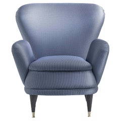 Piera Blue Armchair by Fratelli Boffi