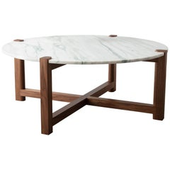 Pierce Coffee Table, Walnut, Carrara Marble or COS, Made to Measure, Hand Made