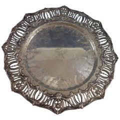 Pierced Border by J.E. Caldwell Sterling Silver Sandwich Platter