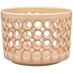 Pierced Cylindrical Bowl, Blush, In Stock