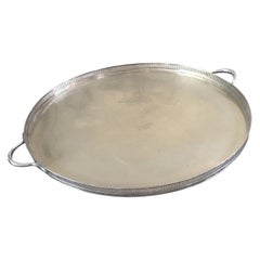 Pierced Gallery Edge Silver Tray