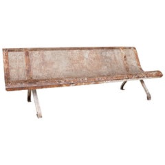 "Pierced Metal ""Station Bench from France"