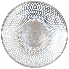 Pierced Sterling Footed Plate
