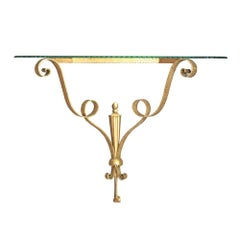 Pierluigi Colli Midcentury Italian Designer Bronze Consolle, 1950s