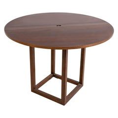 "Pierluigi Ghianda ""Gabbiano"" Folding Table in Walnut, Limited Edition"