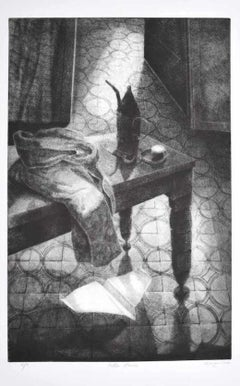 In the Room - Original Etching by Piero Cesaroni - 2002