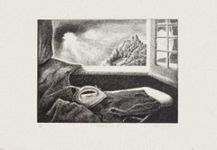 The Ironing Table - Original Etching by Piero Cesaroni - 2005