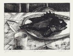 The Scorpionfish - Original Etching by Piero Cesaroni - 1933