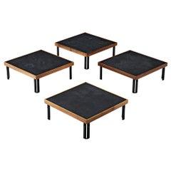 Piero De Martini for Cassina Naviglio Set of Four Coffee Tables
