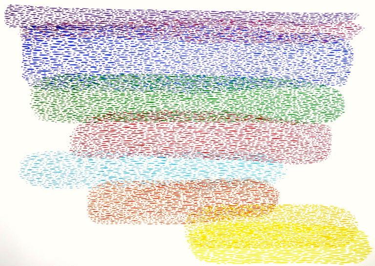 Abstract Composition - Original Lithograph by Piero Dorazio - 1978 For Sale 1
