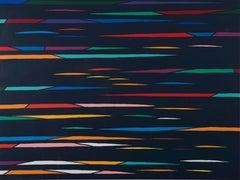 Abstract Line - Original Lithograph by Piero Dorazio - 1976