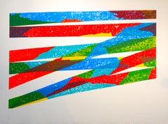 Color Composition - Original Lithograph by Piero Dorazio - 1976
