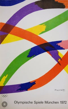 Colored Ribbons - Lithograph (Olympic Games Munich 1972)