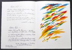 Composition - Original Lithograph by Piero Dorazio - 1972