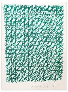 Composition - Original Lithograph by Piero Dorazio - 1990