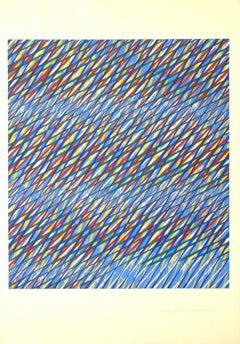 Crossing Lines - Original Serigraph by Piero Dorazio - 1985