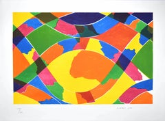 Infinity Vortex - Original Lithograph by Piero Dorazio - 1968