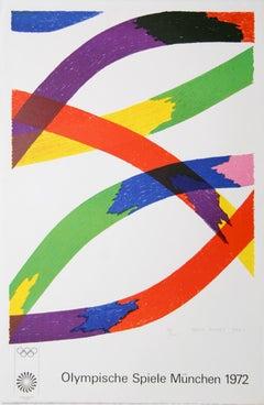 Olympische Spiele Munchen, Lithograph by Piero Dorazio