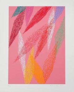 Pink Abstract, Silkscreen by Piero Dorazio