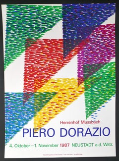 Poster for P. Dorazio's Exhibition in Herrenhof Musbach, Germany