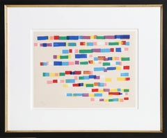 """Strokes"", 1979, Framed and Signed by Piero D'Orazio"