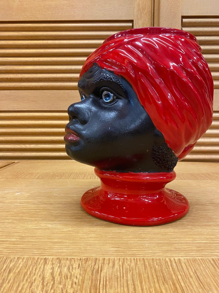 Piero Fornasetti, Ceramic Head Vase, circa 1960 For Sale 4