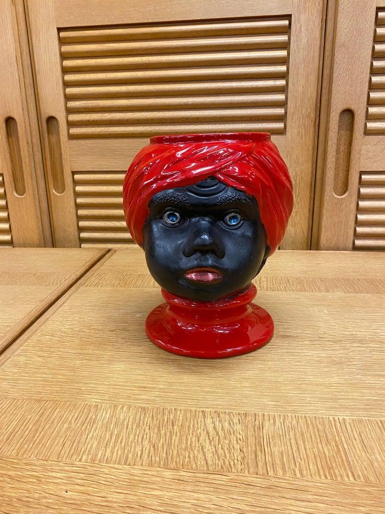 Piero Fornasetti, Ceramic Head Vase, circa 1960 For Sale 7