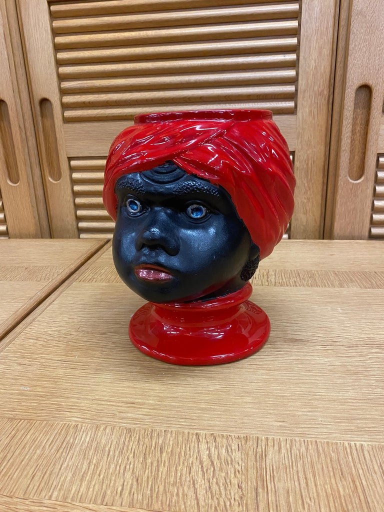 Piero Fornasetti, (1913-1988) ceramic head vase, circa 1960.