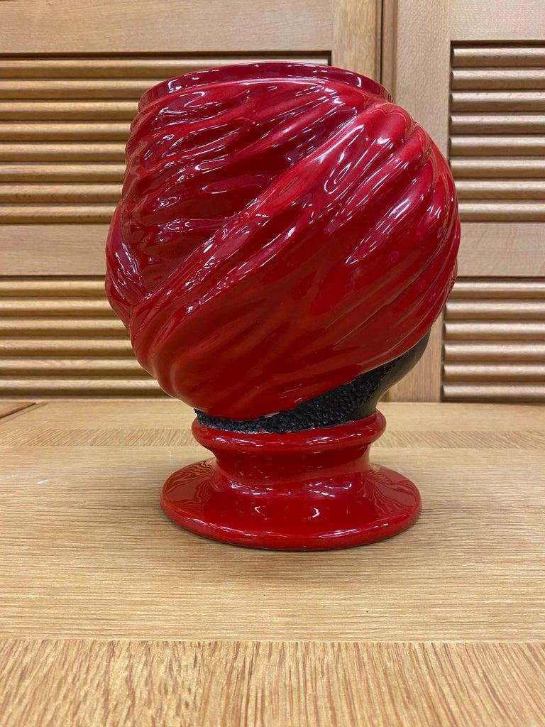Piero Fornasetti, Ceramic Head Vase, circa 1960 For Sale 3