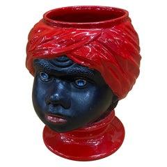 Piero Fornasetti, Ceramic Head Vase, circa 1960
