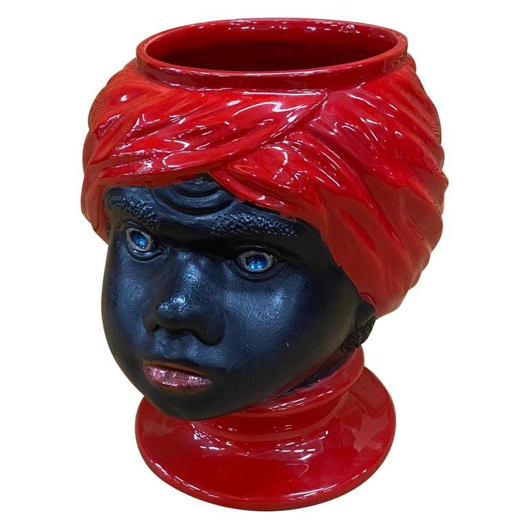 Piero Fornasetti, Ceramic Head Vase, circa 1960 For Sale