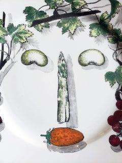Piero Fornasetti Arcimboldo Vegetali Plate