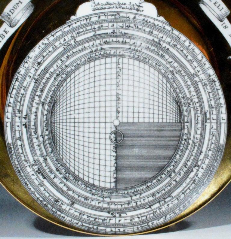 Italian Piero Fornasetti Astrolabe Plate, Number Twelve in Astrolabio Series For Sale