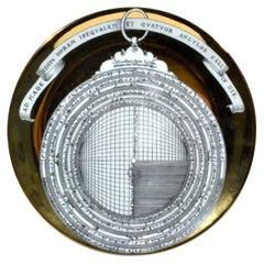 Piero Fornasetti Astrolabe Plate, Number Twelve in Astrolabio Series