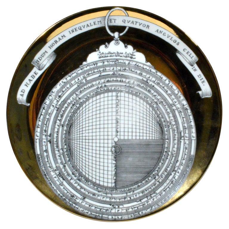 Piero Fornasetti Astrolabe Plate, Number Twelve in Astrolabio Series For Sale