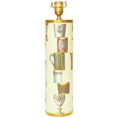 Piero Fornasetti 'Bicchieri di Boemia' Bohemian Stacked Glasses Lamp Base, 1950s