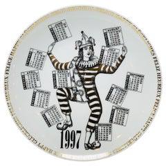 Piero Fornasetti Calendar Porcelain Plate for the Year 1997