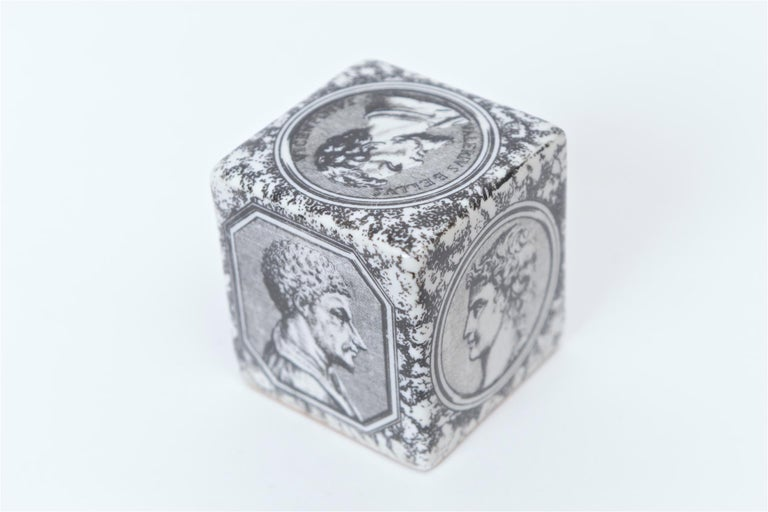 Mid-Century Modern Piero Fornasetti Cammei Paperweight, circa 1950 For Sale