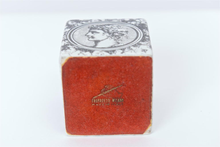 Piero Fornasetti Cammei Paperweight, circa 1950 In Excellent Condition For Sale In London, GB