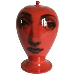 Piero Fornasetti Ceramic Vase Tema e Variazione Series Bitossi Italy