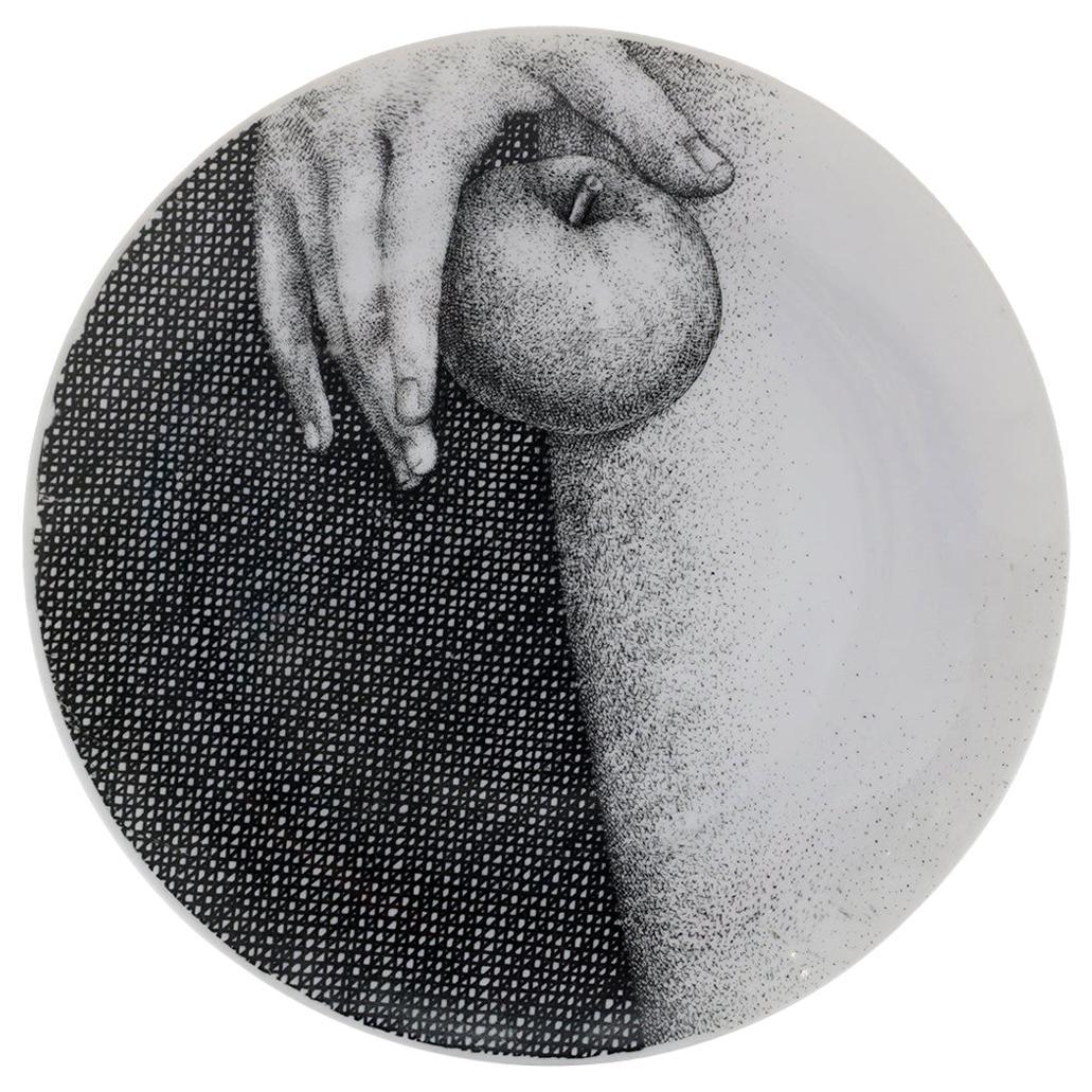 Piero Fornasetti Eva / Eve Porcelain Plate #5, Signed, Unused