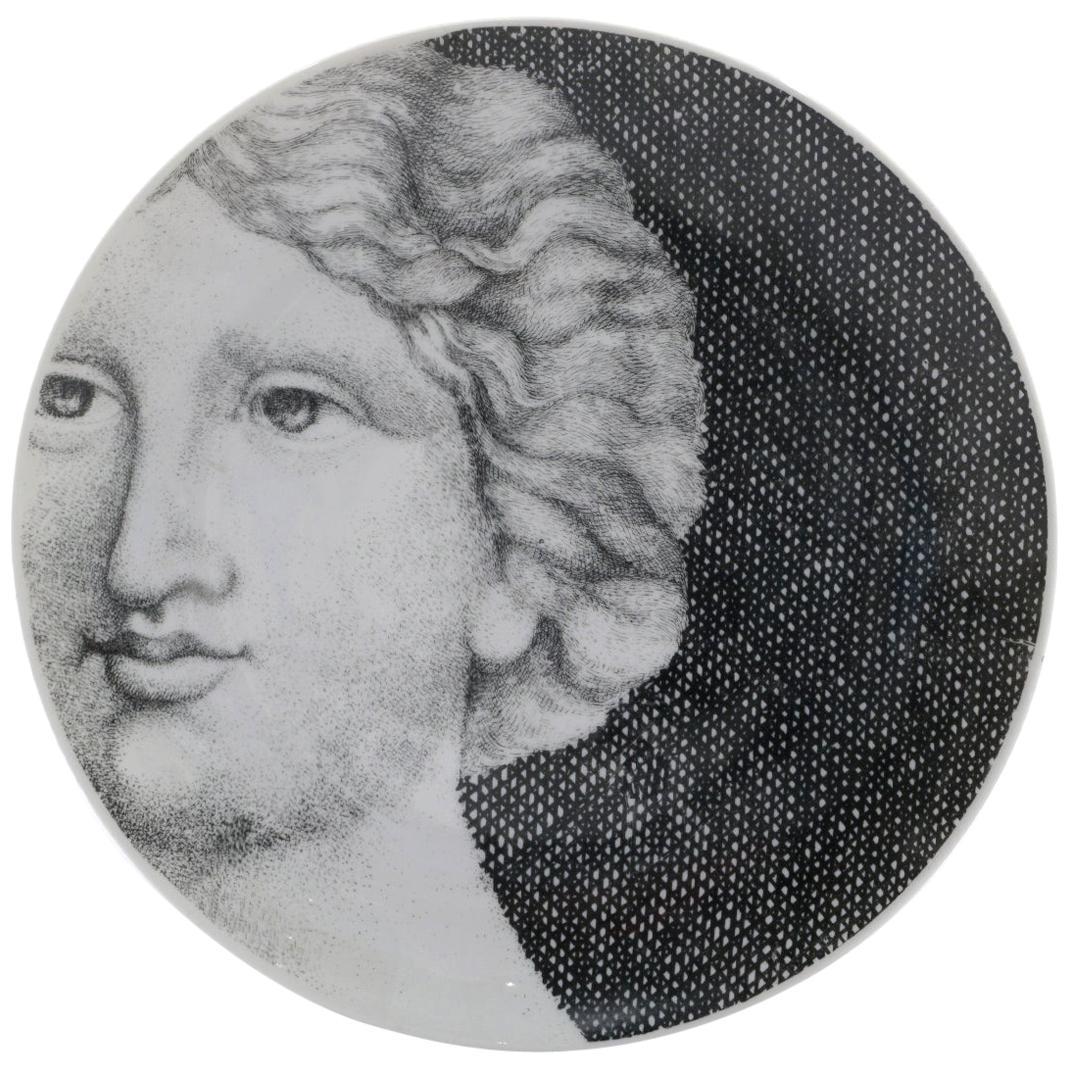 Piero Fornasetti Eva / Eve Porcelain Plate Number 12, Signed