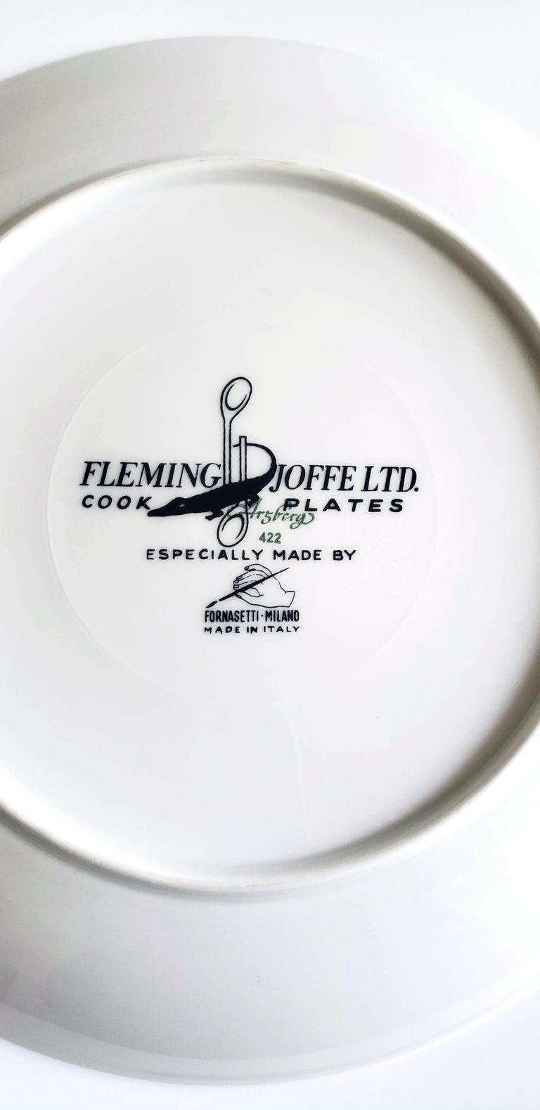 Italian Piero Fornasetti Fleming Joffe Porcelain Recipe Plate, Snake a la Cleopatra For Sale