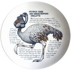 Piero Fornasetti Fleming Joffe Recipe Plate Ostrich & Chicken Breasts